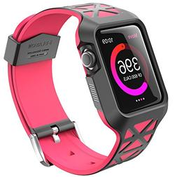 Apple Watch 42 mm Unity Series Hybrid Protective Case-Pink