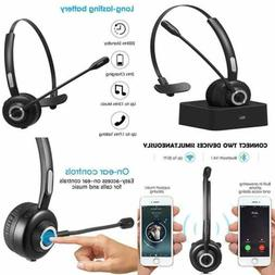 Bluetooth Headset For Cell Phones Office W Noise Cancelling