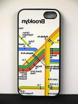 Brooklyn MTA Subway Map i PHONE 5 CELL PHONE COVER CASE - Wh