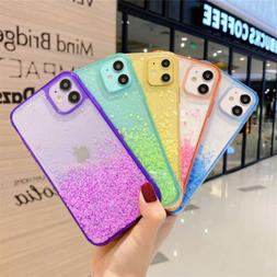 For iPhone 11 Pro Max XS XR 8 7 Plus Bling Glitter Clear Cut