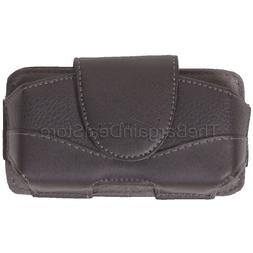 iPhone 4 4s Leather Case Belt Clip Holster Side Cover Pouch