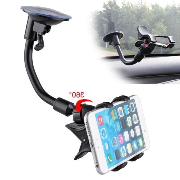 360° Windshield Cradle Holder Stand Mobile Cell Phone iPhone