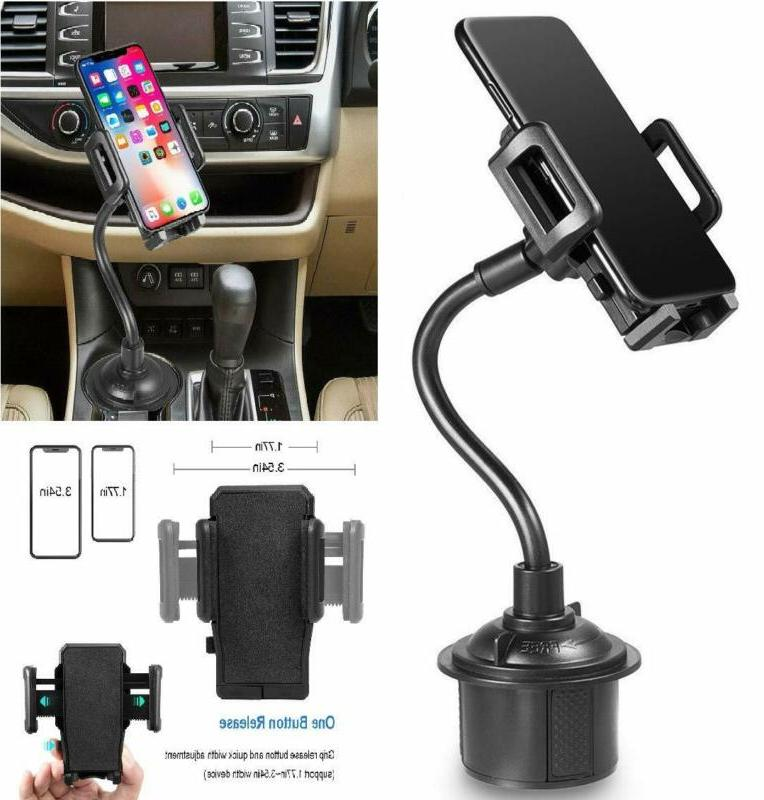 car cup holder phone mount with longer