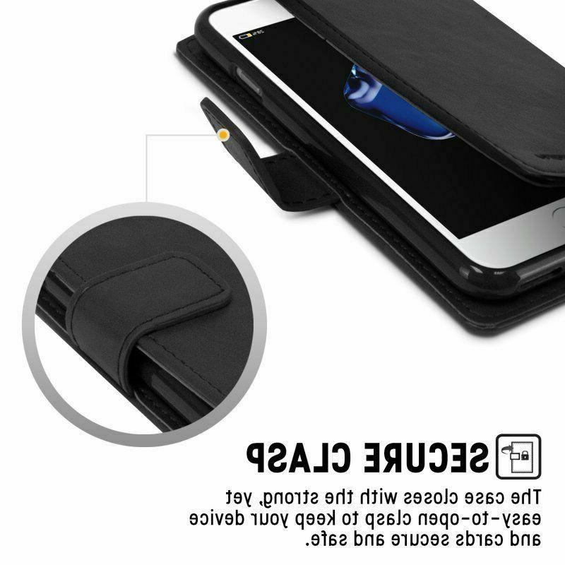 Case Samsung S8,S9,Plus,S10,Note 8 Genuine Leather Wallet