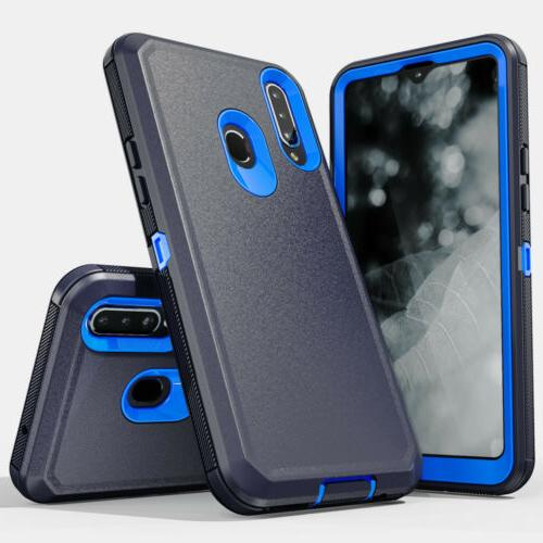 For Samsung Galaxy Case Belt Clip Phone Cover +Tempered