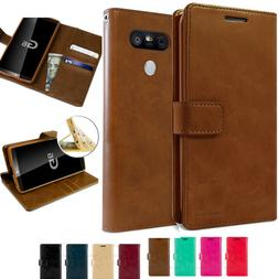 Leather Flip Card Holder Stand Wallet Phone Case Cover For L