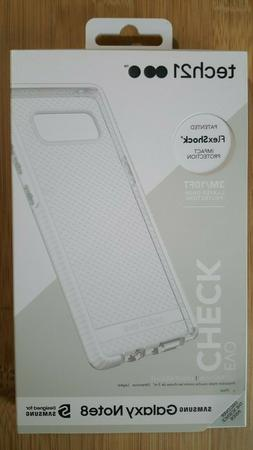 NEW Tech21 Evo Check Phone Case for Samsung Galaxy Note8 Cle