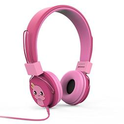 PINK POP Girls Boys Toddler Stereo Gear Earphones Headset KI
