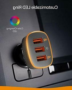 Roav SmartCharge Halo, by Anker 3-Port USB 30W Car Charger w