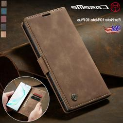 For Samsung Galaxy Note 10 Plus 5G Leather Magnetic Flip Wal