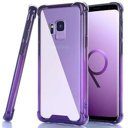 For Samsung Galaxy S9 Case Clear Ombre Shockproof Flexible T