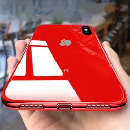 Tempered Glass Phone Case For iPhone 11 Xs Max 7Plus Cover L